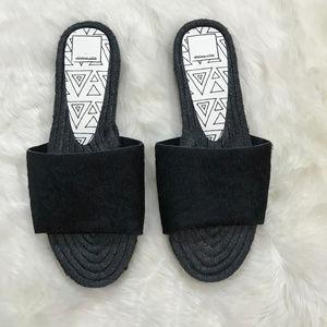 Dolce Vita Vonn Espadrille Sandal Black 8.5 NWOB